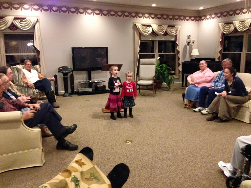 singing at the nursing home